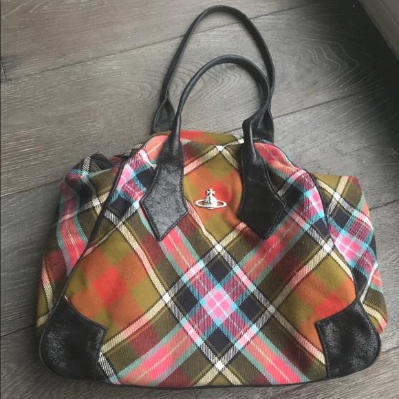 a75985c53b Vivienne Westwood tartan bag authentic. M_5aa485779cc7ef564f8a4811